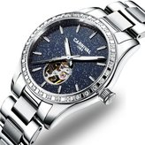 Carnival Women's Automatic Mechanical Female Watch Personality Sparkling Stars in the Sky Skeleton Dial