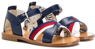 Gucci Kids Web logo sandals