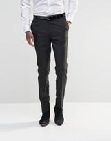 Asos Slim Suit Pants In Black Tonic
