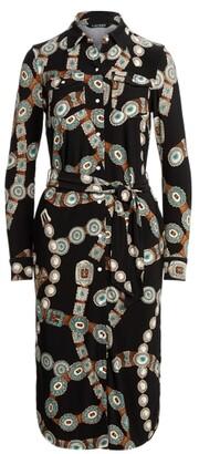 Lauren Ralph Lauren Ralph Lauren Belt-Print Jersey Shirtdress