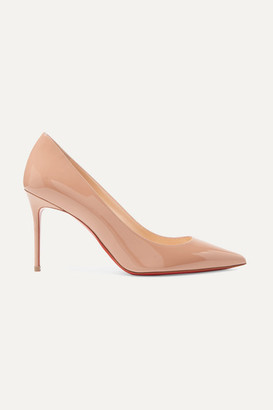 Christian Louboutin Decollete 554 85 Patent-leather Pumps - Neutral