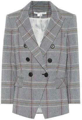 Veronica Beard Empire Dickey checked cotton-blend blazer
