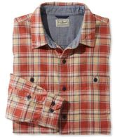 L.L. Bean Deer Isle Double-Cloth Shirt, Slightly Fitted Plaid