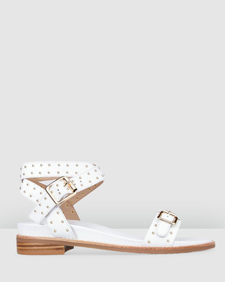 Bared Footwear - Women's White Sandals - Spinetail Flat Sandals - Women's - Size One Size, 36 at The Iconic