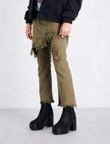R 13 Surplus straight cotton-twill trousers