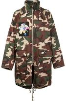 Christian Dada X Nobuyoshi Araki patch camo coat - men - Cotton/Cupro - 50