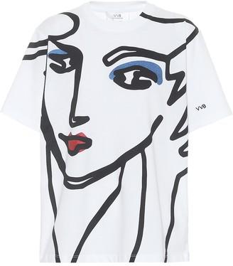 Victoria Victoria Beckham Beauty Face organic cotton T-shirt