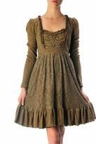 Ryu Brown Lace Dress