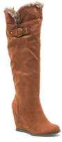 Qupid Noya Women's Wedge Knee-High Boots