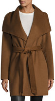 T Tahari Wool-Blend Belted Wrap Coat, Vicuna