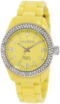 Haurex Italy Women's PY360DY1 Monte Carlo Double Crystal Bezel Ring Luminous Watch