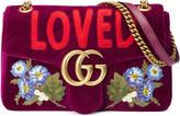 Gucci GG Marmont embroidered velvet bag