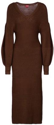 STAUD Carnation knit midi dress