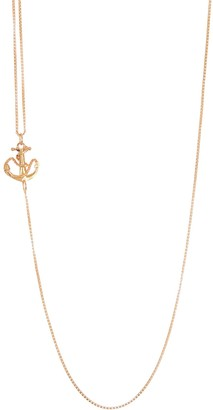 Alex and Ani 14K Gold Plated Sterling Silver Adjustable Chain Anchor Necklace
