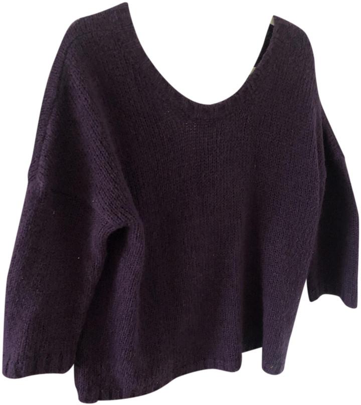 BA&SH Purple Wool Knitwear