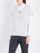 Brunello Cucinelli Chain-embellished V-neck cashmere hoody