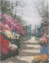 Thomas Laboratories M C G Textiles Kinkade The Garden of Promise Counted Cross Stitch Kit 11 Inch x14 Inch