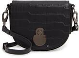 Longchamp Small Cavalcade Crocodile Embossed Leather Crossbody Bag