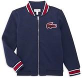 Lacoste Little Boy's & Boy's Logo Patch Zip-Up Fleece Bomber Jacket