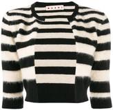 Marni cropped striped cardigan