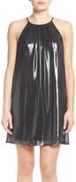Lush Glitter High Neck Trapeze Dress