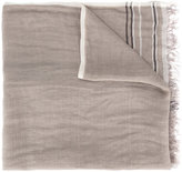 Brunello Cucinelli frayed scarf - men - Linen/Flax - One Size