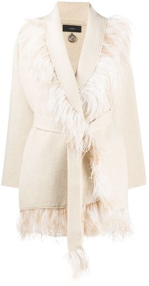 Alanui Feather Trim Cardigan