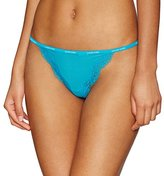 Calvin Klein Women's Sheer Marquisette Lace Thong String Panty