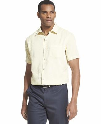 Van Heusen Men's Big Air Tropical Short Sleeve Button Down Shirt