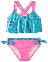 Pink Platinum Girls 7-16 Animal Print Tankini & Scoop Bottoms Swimsuit Set