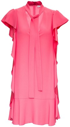 RED Valentino Pink Crepe Dress With Ruches Detail