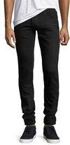 Balmain Skinny Moto Jeans, Black