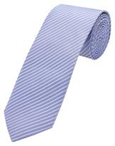 Oxford Tie Silk Pinstripe Blu Med X