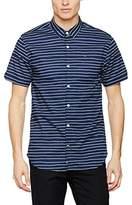 Tommy Hilfiger Men's Thdm SL Print Stretch Shirt S/S 30 Slim Fit Shirt