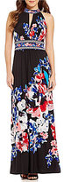 London Times Halter Floral Maxi Dress