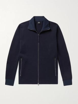 HUGO BOSS Galberto Cotton-Jersey Track Jacket - Men - Blue