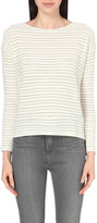 The White Company Textured stripe top