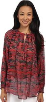 Rachel Zoe Women's Holland Top Red Orange Blouse