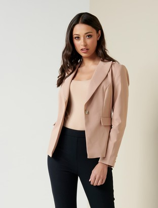 Forever New Annie Fitted Blazer - Nougat Brown - 10