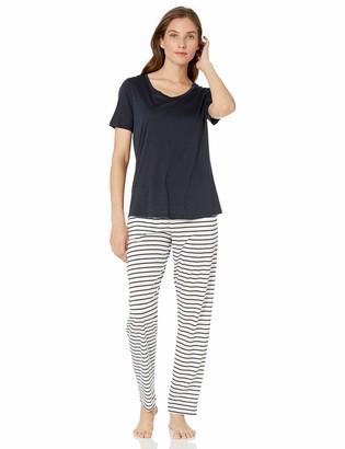 Hanro Women's Laura Short Sleeve Long Pajama Set