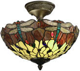 Dale Tiffany Dale TiffanyTM Corrall Dragonfly Semi Flush Mount