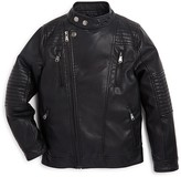 Urban Republic Boys' Faux Leather Moto Jacket - Sizes 2T-4T