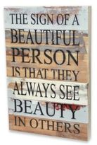 Beautiful Person Inspirational Reclaimed Wood Wall Art