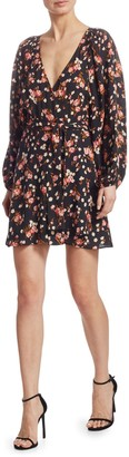 A.L.C. Carlo Silk Floral Wrap Dress