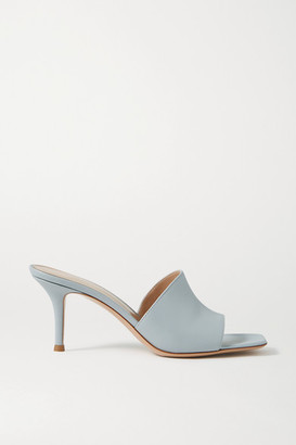 Gianvito Rossi 70 Leather Mules - Blue