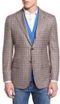 Kiton Cashmere-Blend Check Sport Coat, Tan