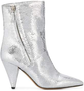The Seller metallic snake print ankle boots