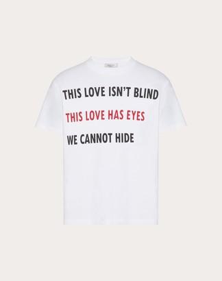 Valentino Uomo On Love T-shirt Man White Cotton 100% L