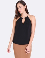 Forcast Ana Cut-Out Halter Top