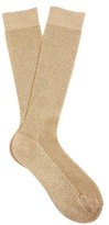 Raey Metallic ribbed-knit socks